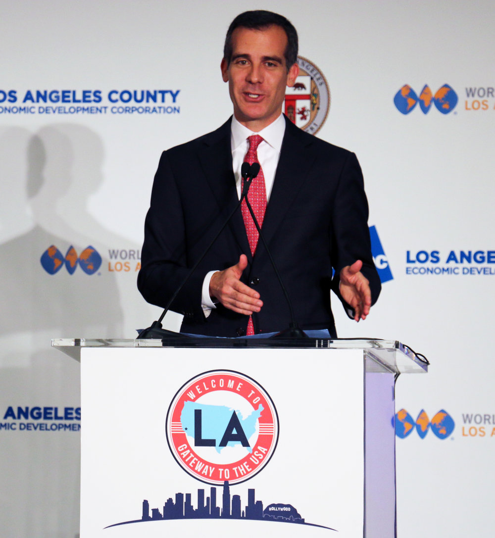 City of Los Angeles Mayor Eric Garcetti