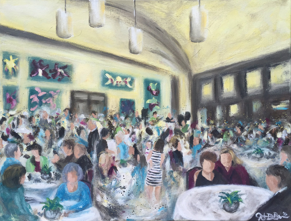The Completed Painting - You can see Margie and her mom towards the right of the foreground!