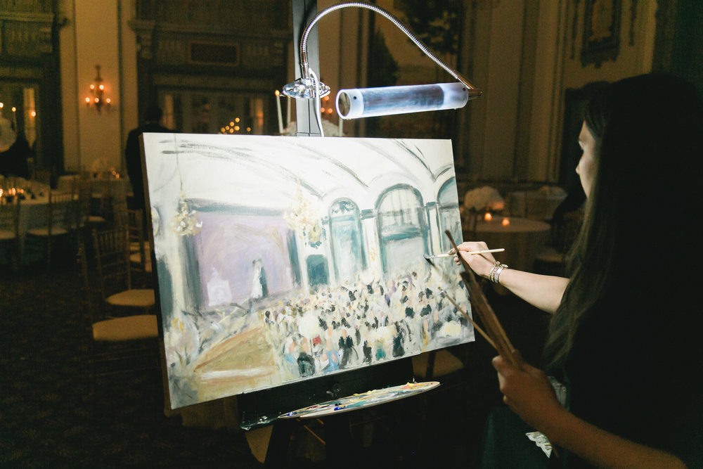 Cleveland Event Painter Live Wedding Painting