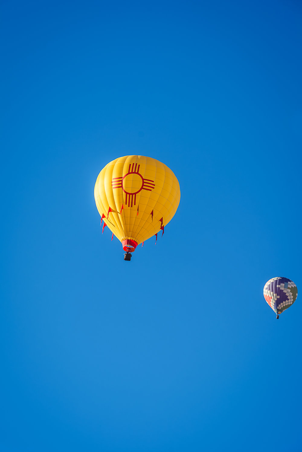 New Mexico Hot Air Balloon, Zia Symbol, Albuquerque Photographers, Hot Air Balloon