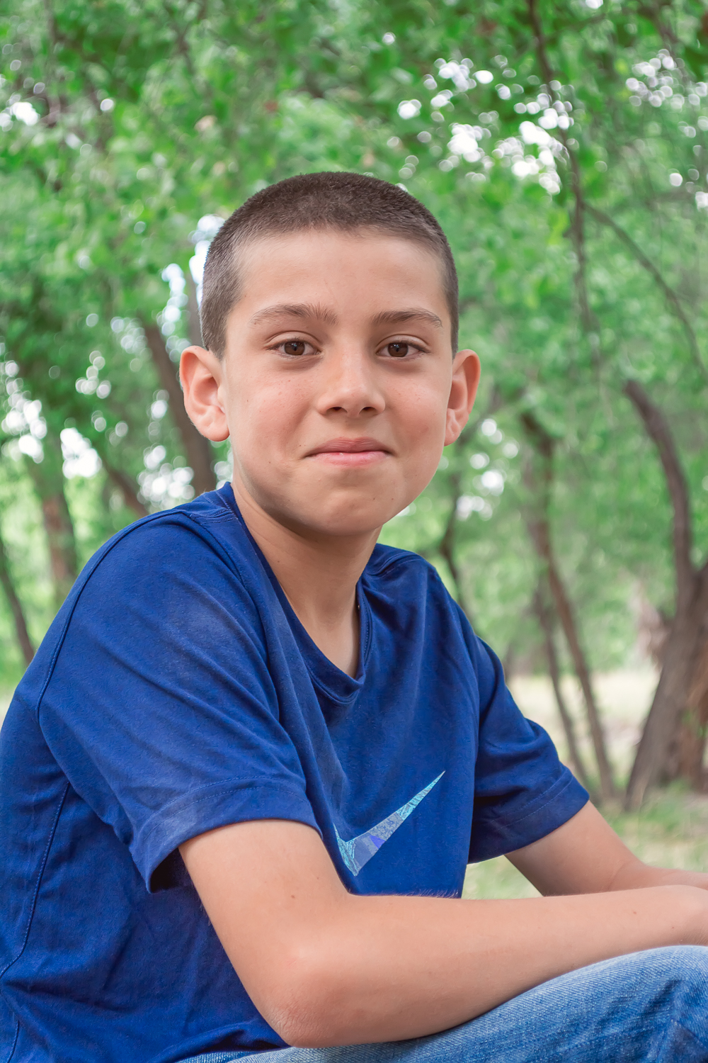 Boy Portrait, outdoor portrait, child portrait, Los Lunas, New Mexico, Los Lunas River Park