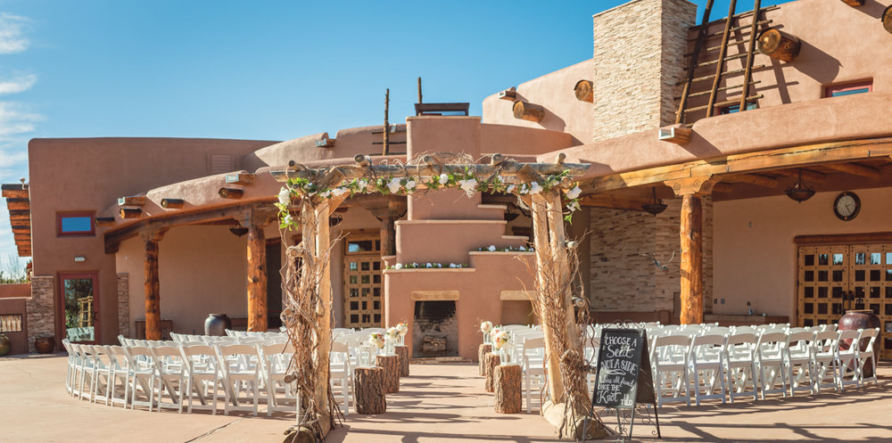 Outdoor Wedding venue, New Mexico Wedding Venue, Nature Pointe Wedding and Event Center, Outdoor ceremony, New Mexico architecture, outdoor fireplace