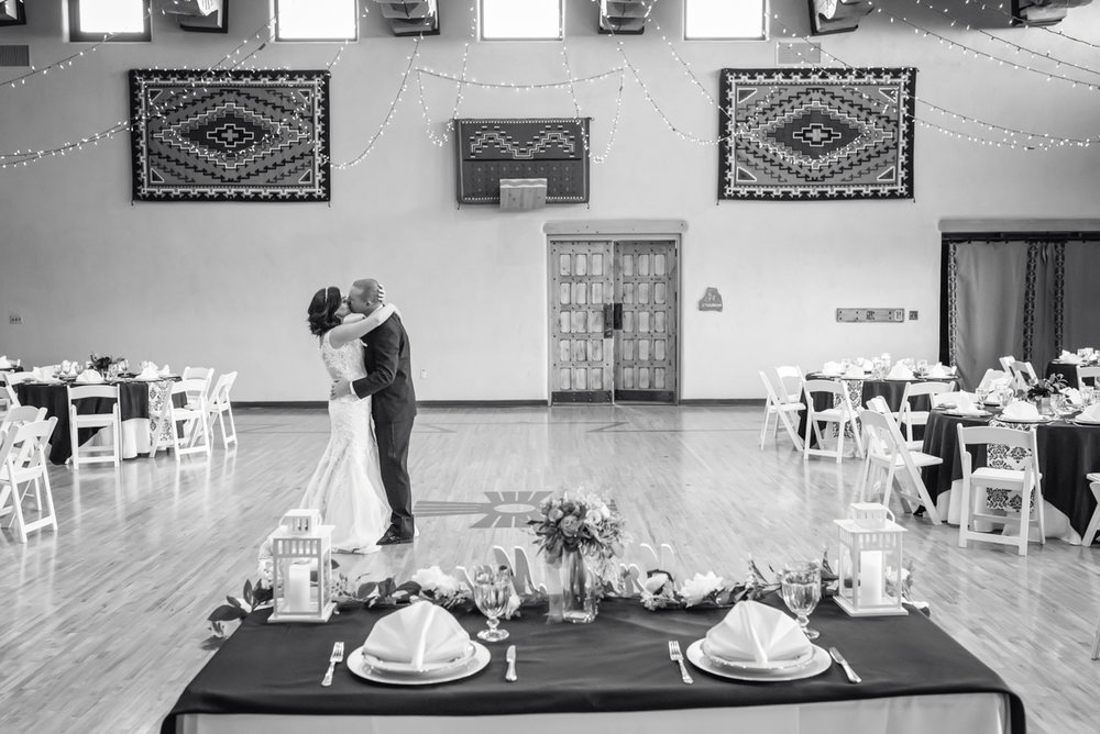 Nature Pointe Wedding and Event Center, Albuquerque Wedding Photographer, Albuquerque Wedding, New Mexico Wedding, First Dance Photo, Black and White wedding photo
