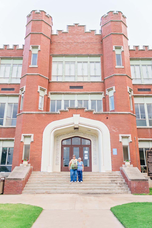 Red Brick Building, Historical Building, Family History, Alva, Oklahoma, Northwestern Oklahoma University, Mother-Daughter Portrait, Albuquerque Photographer, Rio Rancho Photographer, Santa Fe Photographer