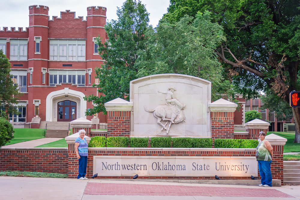 Northwestern Oklahoma State University, Historical Buildings, College Campus, Red Brick Building, LDS Family Photographer, LDS Photographer, Albuquerque Wedding Photographer, Santa Fe, New Mexico
