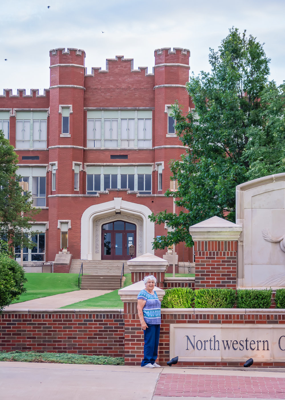 Northwestern Oklahoma State University, College Campus, Red Brick Building, Historical Building, Alva, Oklahoma, LDS Wedding Photographer, LDS Destination Photographer, Albuquerque Wedding Photographer