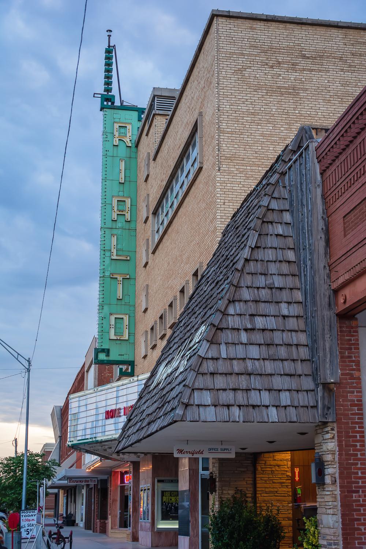 Movie Theater, Alva Oklahoma, Historical Building © Nicole Bradshaw Photography 2017