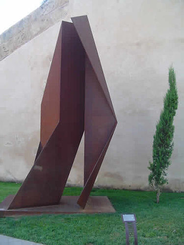 Friar Junípero Serra, 2003 36 x 17 x 13 inches Steel Sculpture