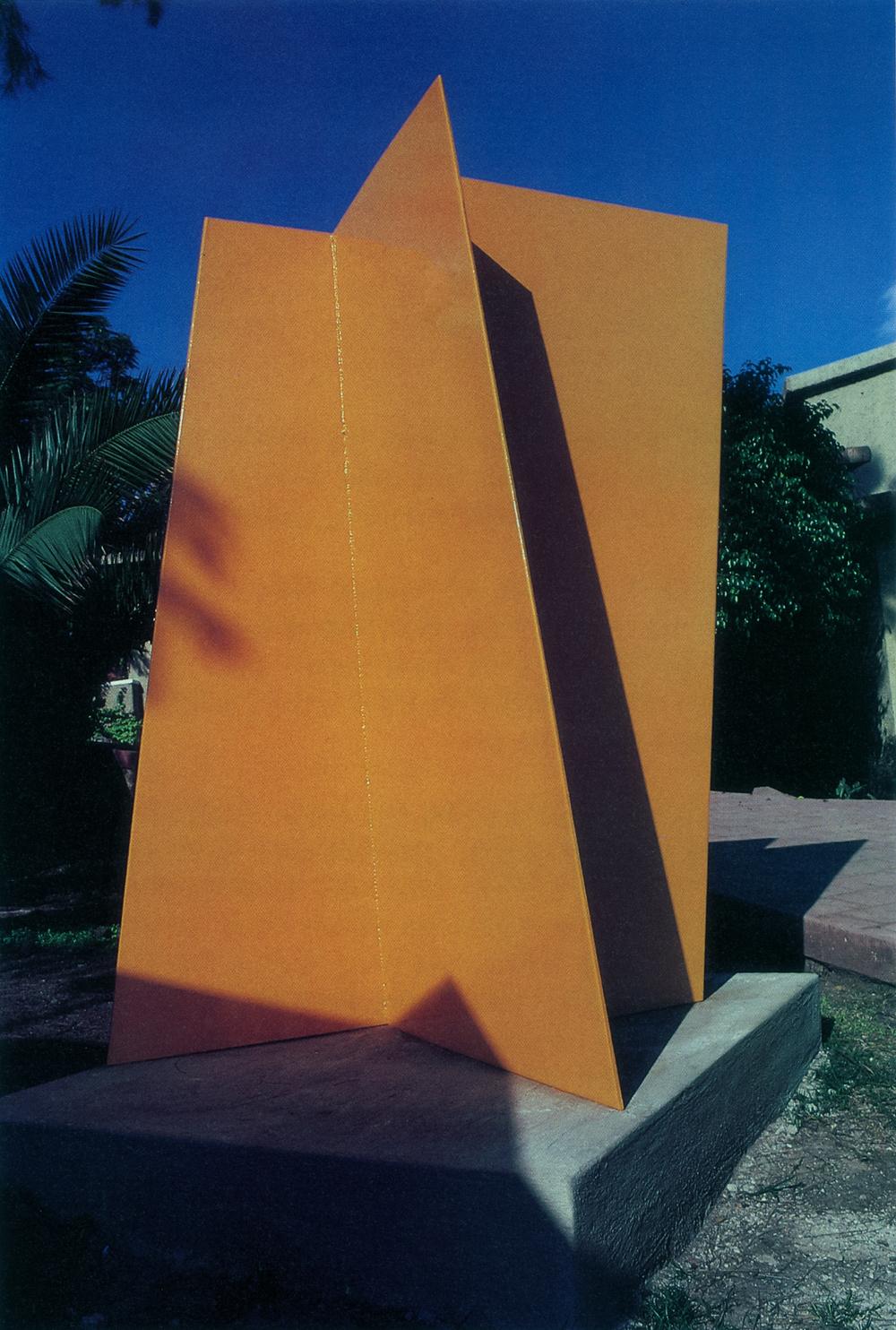 Villas Buenaventura Sculpture Garden, San Juan Cosala, Mexico; 1991.  Puerta de Sol.  6' x 5' x 3'.