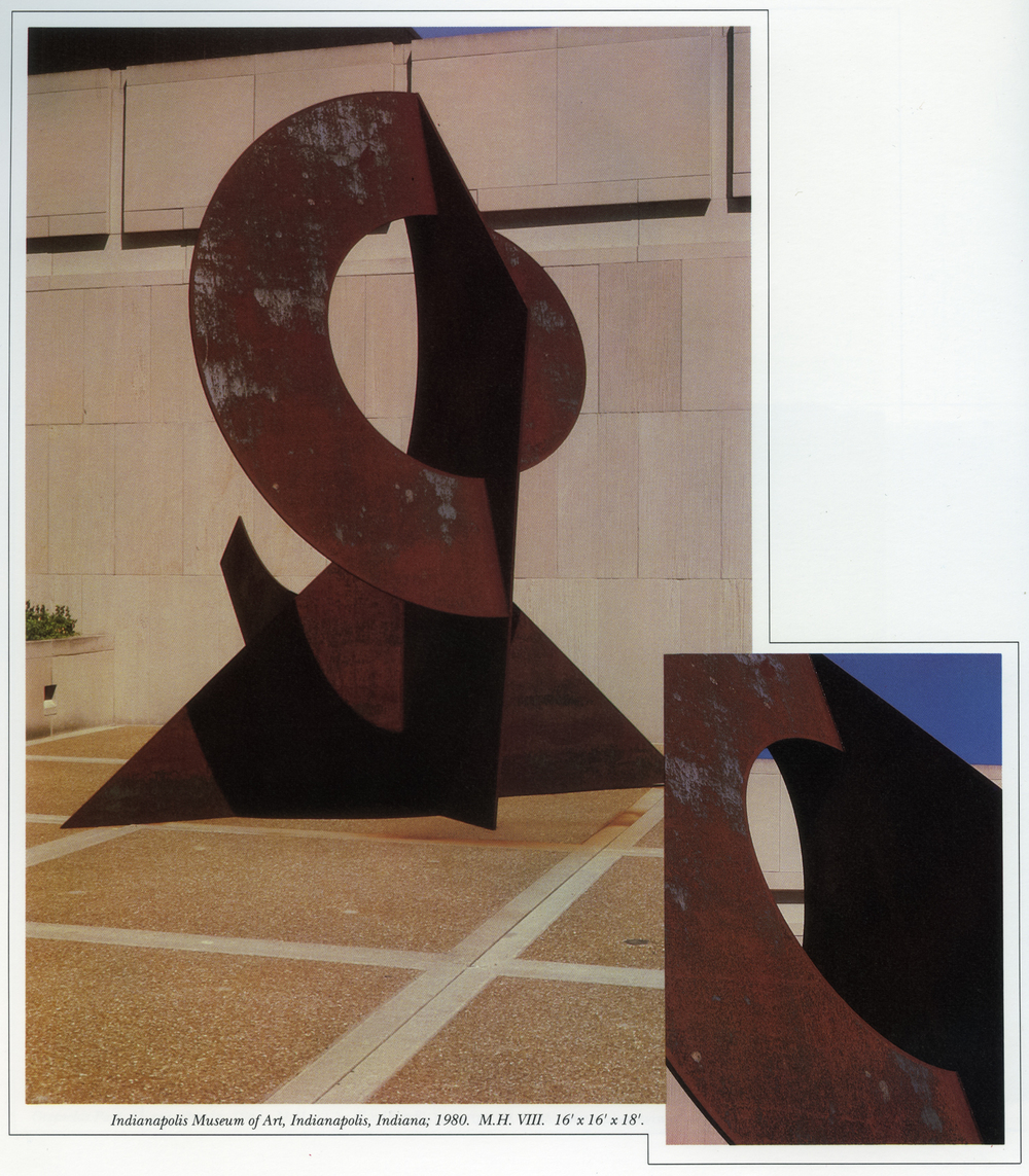 Indianapolis Museum of Art, Indianapolis, Indiana; 1980.  M.H. VIII.  16' x 16' x18'.