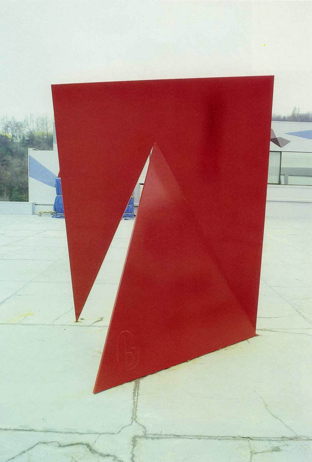 Walker Hill Art Center, Seoul, South Korea; 1985.  M.H. XXV.  9' x 7' x 5.5'.