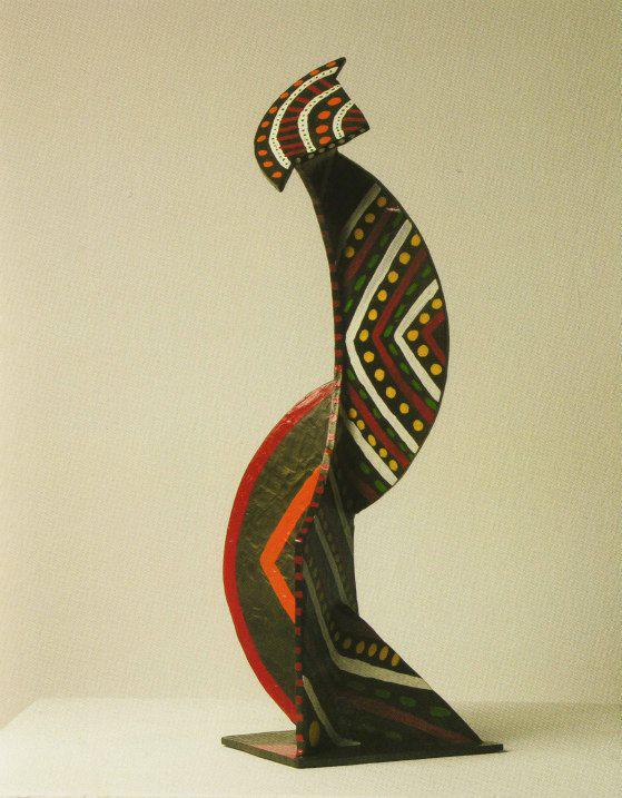 Holistic painted II, 1978.  Bronze.  42 x 16 x 19 cm