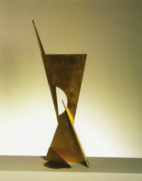 Holistic-138, 1987. Acer / Fulla d'or. 92 x 36 x 27 cm
