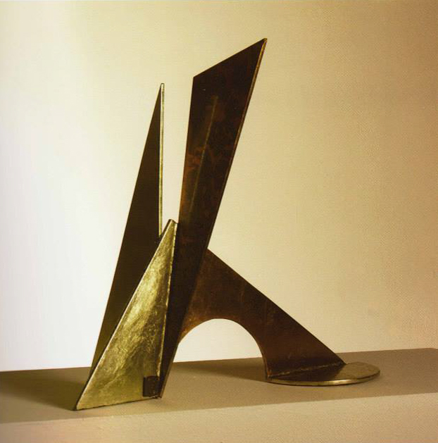 Holistic-132, 1983. Acer / fulla d'or. 50 x 56 x 26 cm
