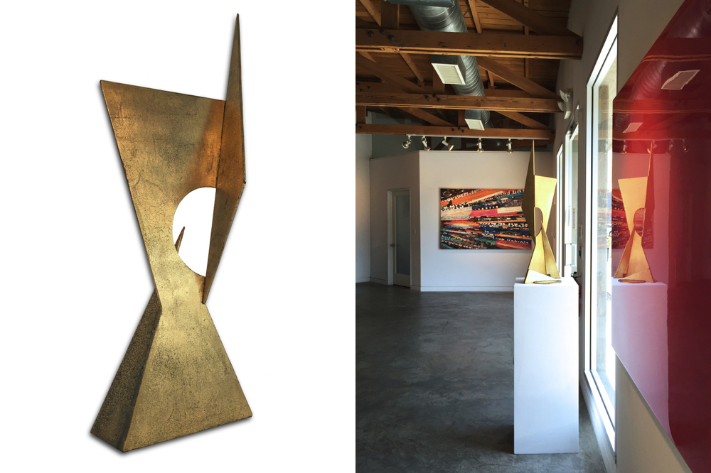 Holistic 138, 37 x 15 x 9 inches, welded steel, gold leaf and varnish