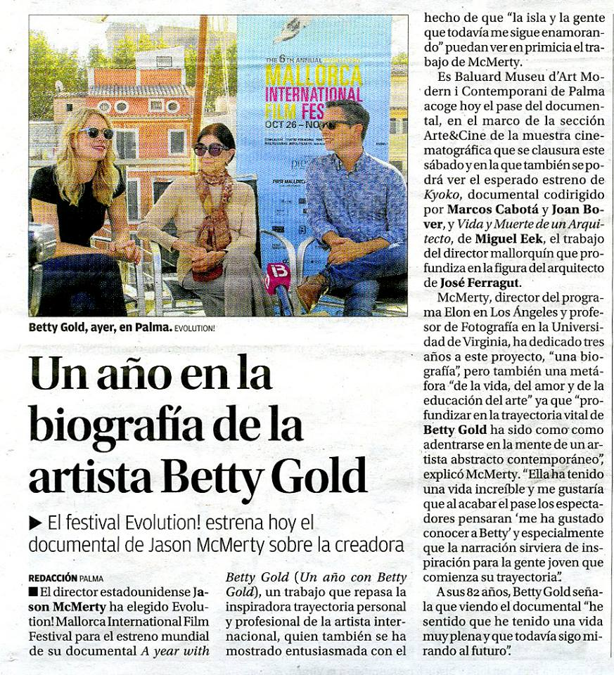 6th Evolution Mallorca International Film Festival   Betty Gold