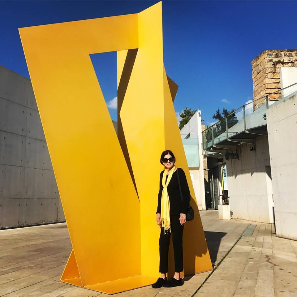 """Yellow on Yellow with my favorite subject  Betty Gold in Mallorca Spain.""  -J McMerty @evolutionmallorcafilmfestival"