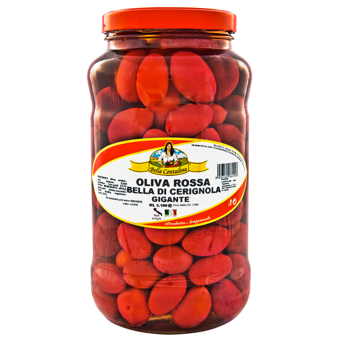 OLIVES CERIGNOLA RED