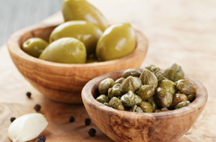 CAPERS, PICKLES & OLIVES