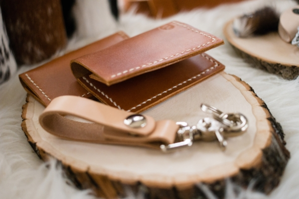 leather wallets and key chain
