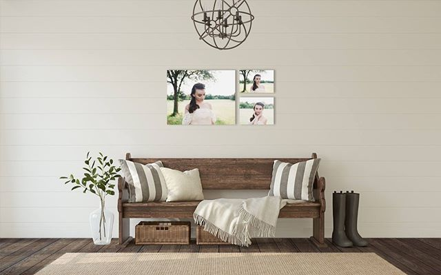 I've read that displaying photos in the home helps with children's self esteem and sends the message that those in our family are important... Makes sense!  Need some design inspiration? This grouping would look wonderful above the fireplace, on the wall atop the couch, or in the hall like this one. 👆🏻😍 #printyourphotos #sincerelyjanephotography #ohiochildphotographer #daytonohiochildphotographer