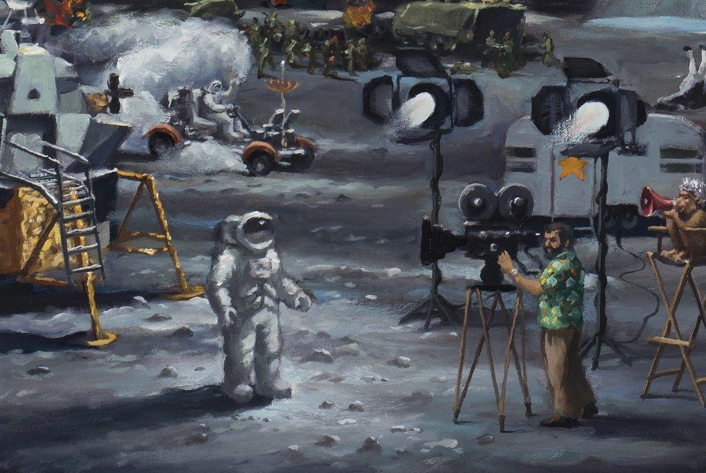 American dream, detail, moon landing.