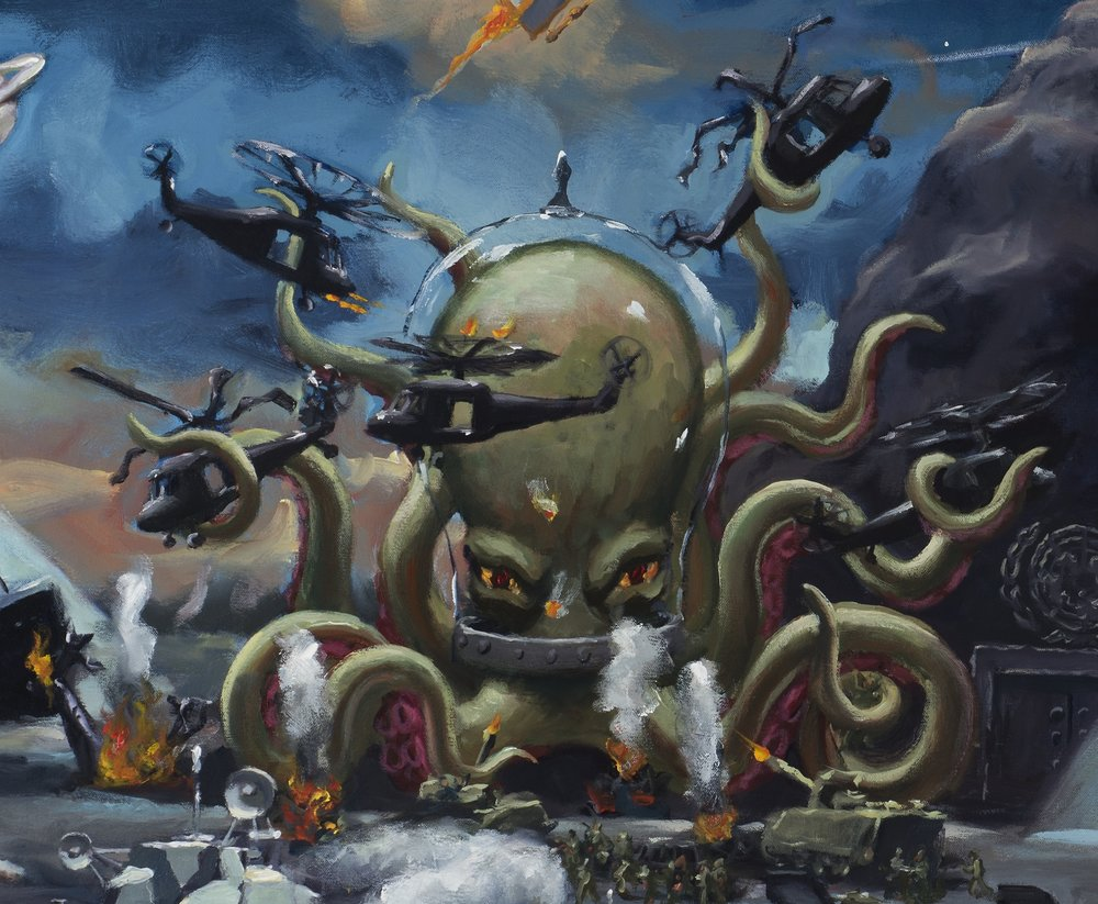 American dream, detail, space octopus