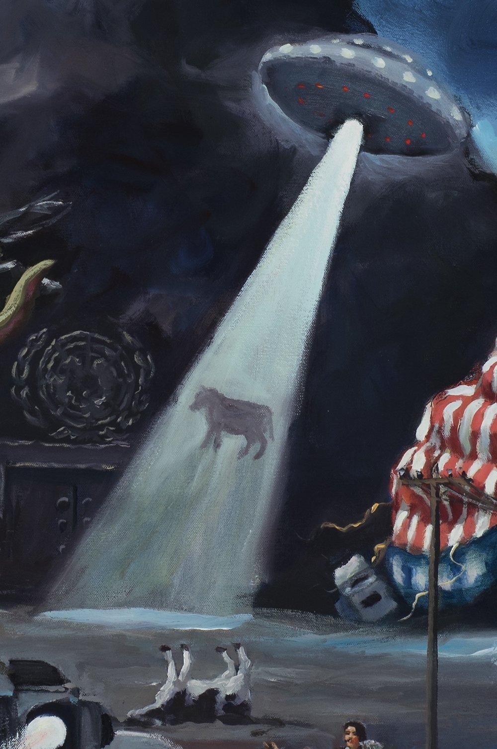 American dream, detail, alien abduction