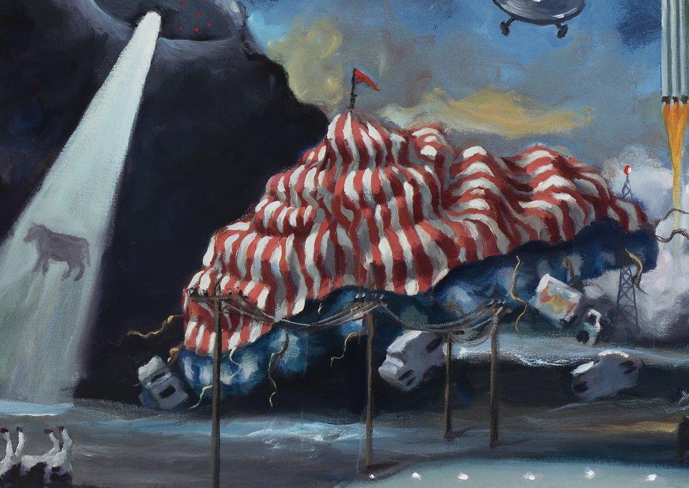 American dream, detail, tent