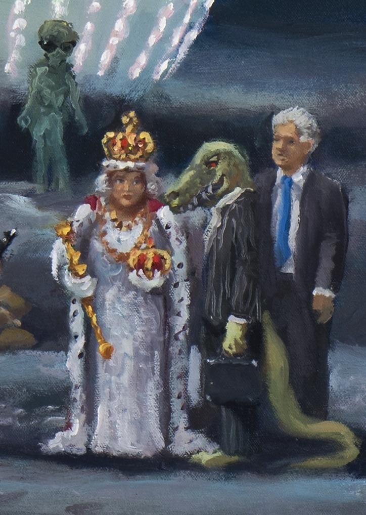 American dream, detail, lizard people