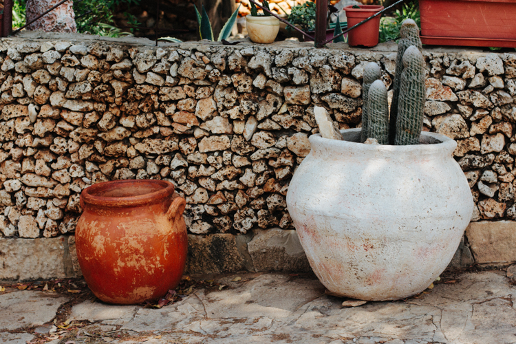 Beautiful rustic pots in Israel
