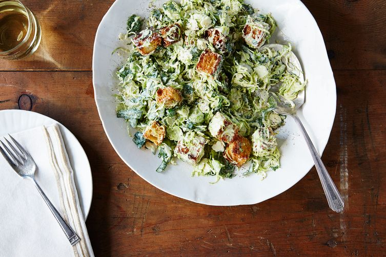 Brussels Sprouts salad via Food52