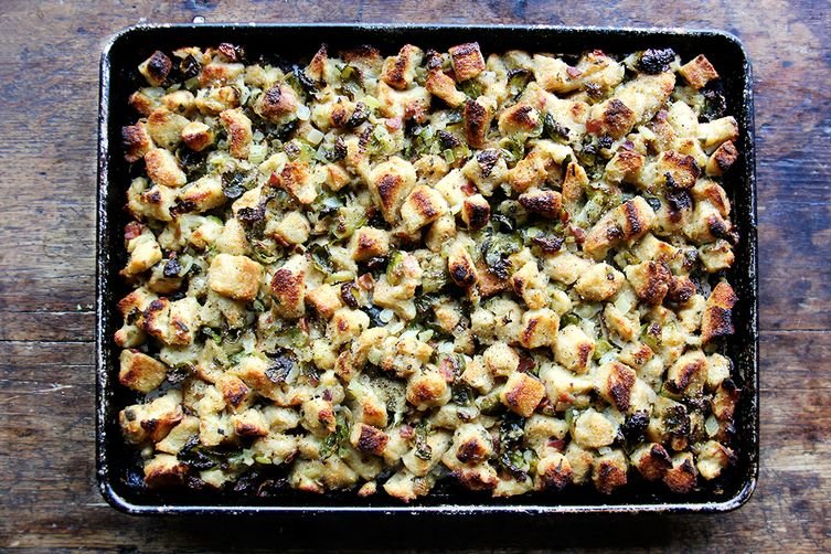 Sheet Pan Stuffing via Food52