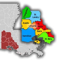 Parishes of Acadiana