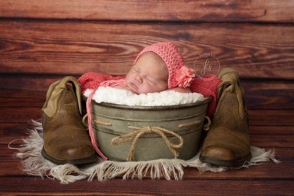 NewbornwithDadsboots