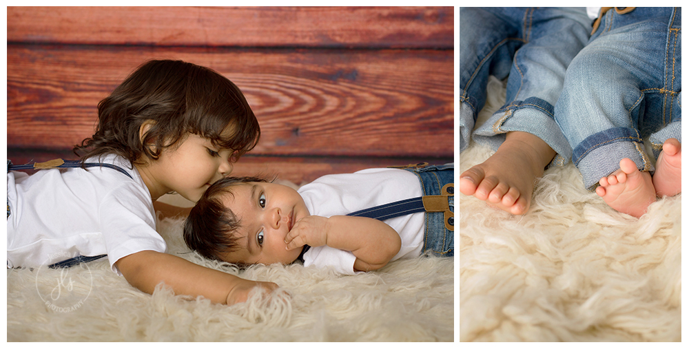 Mom wanted to capture the love between these two brothers and I think these photos about sum it up.  Big brother was so gentle and caring!