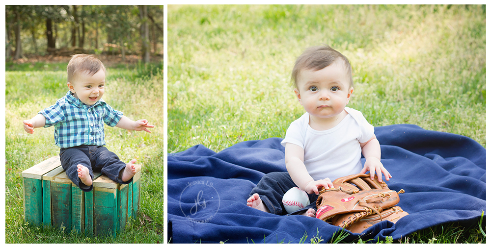 Dad's love of baseball and the outdoors was the perfect setting for this little guy's portraits.  When he finally gave me a smile it was as if his entire body would light up!