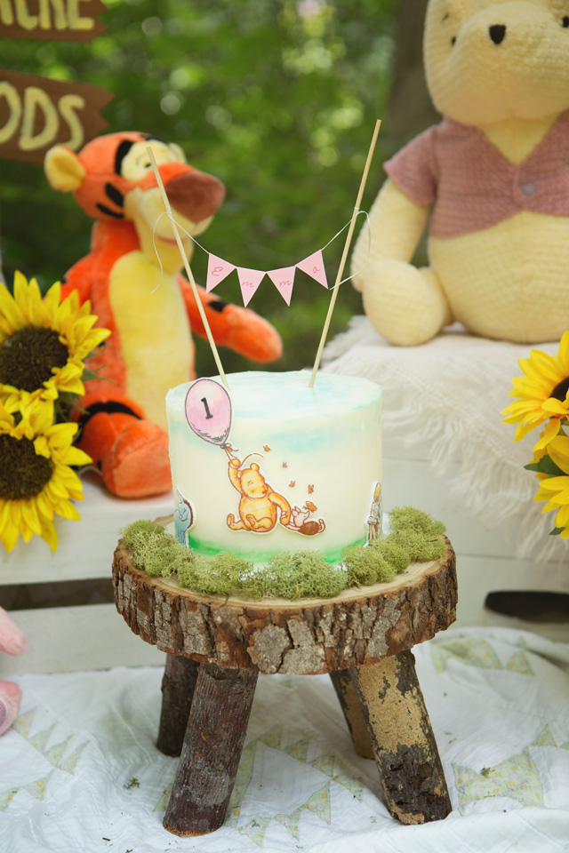 Winnie The Pooh Vintage Cake For First Birthday Smash