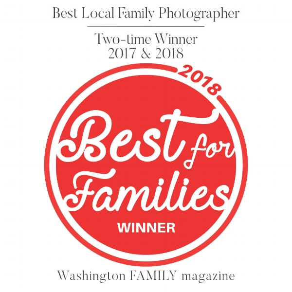 Two time Winner Best Local Family Photographer Washington Family magazine