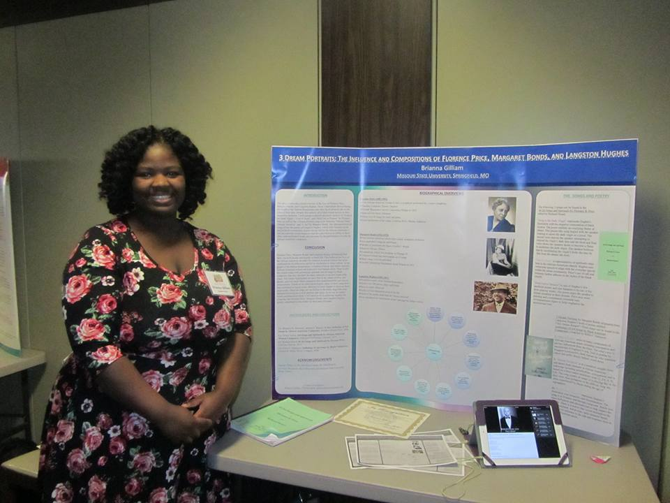 Central Region Conference Poster Presentation by Brianna Gilliam, 2015