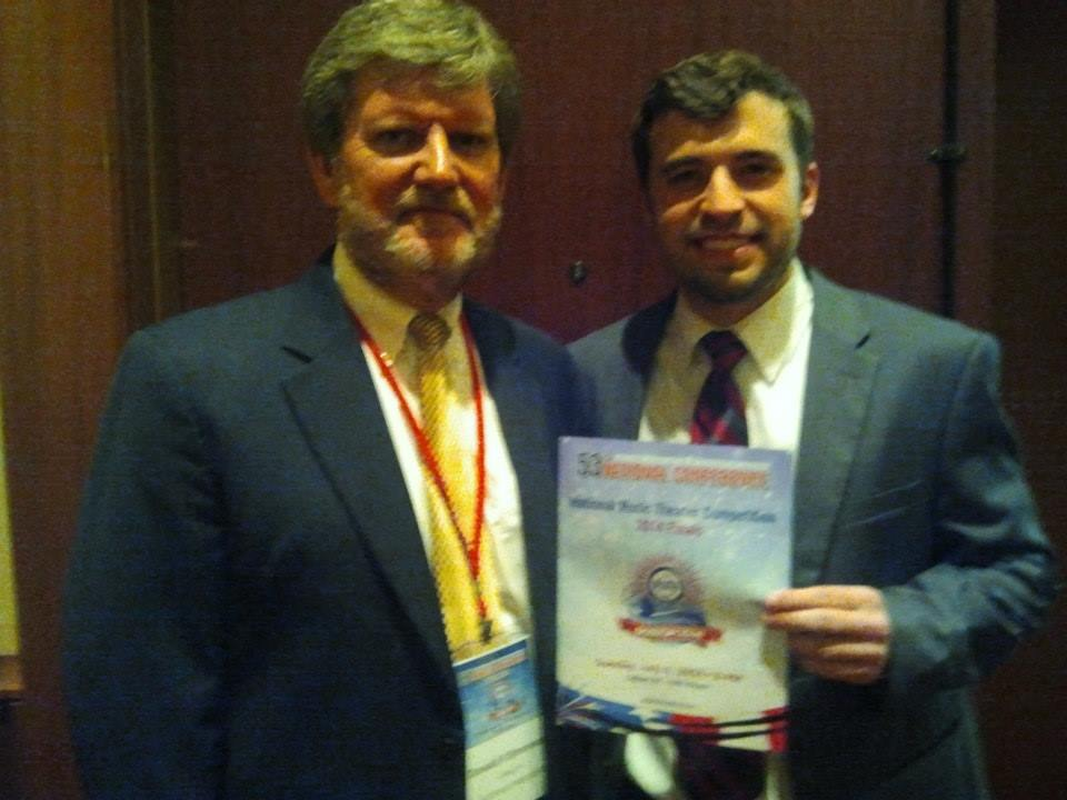 National Music Theatre Competition Finalist Anson Woolin with Donald Simonson, Boston Conference, 2014