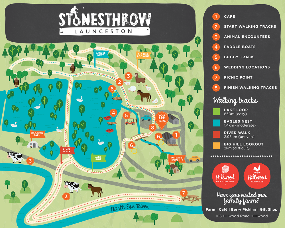 Stonesthrow Launceston Property Map
