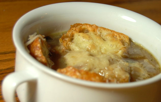 Guinness, Red Onion & Cheddar Soup
