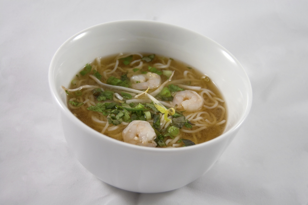 vietnamese noodle soup with shrimp