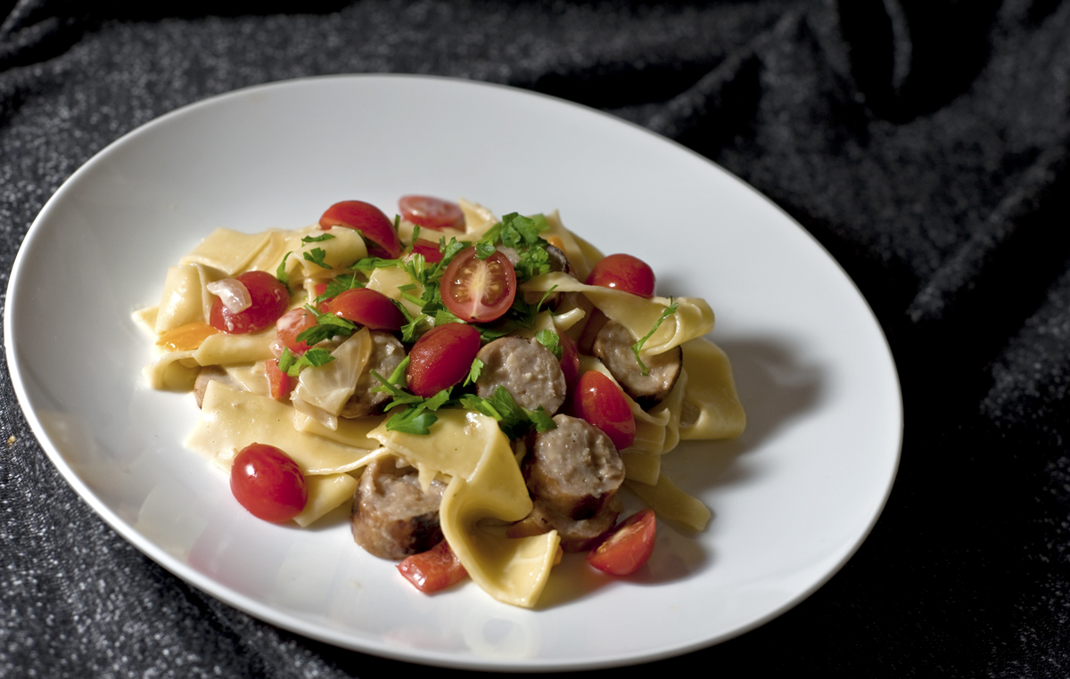 chicago food blog smak pasta with sausage and vegetables1