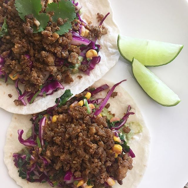 "For those wondering, I did complete #Whole30! I just went on a simple meal binge and quit taking pictures🤣 • While I seriously missed carbs and had a day of pure indulgence, some things changed--like my desire for meat. I find myself wanting more fresh meals lately, and more plant-based options. Taco Tuesday will never be the same thanks to this vegan option. Tofu ""meat"", cabbage slaw and guac. DEELISH. #vegan #vegantacos #plantbased #plantpowered #cleaneating"