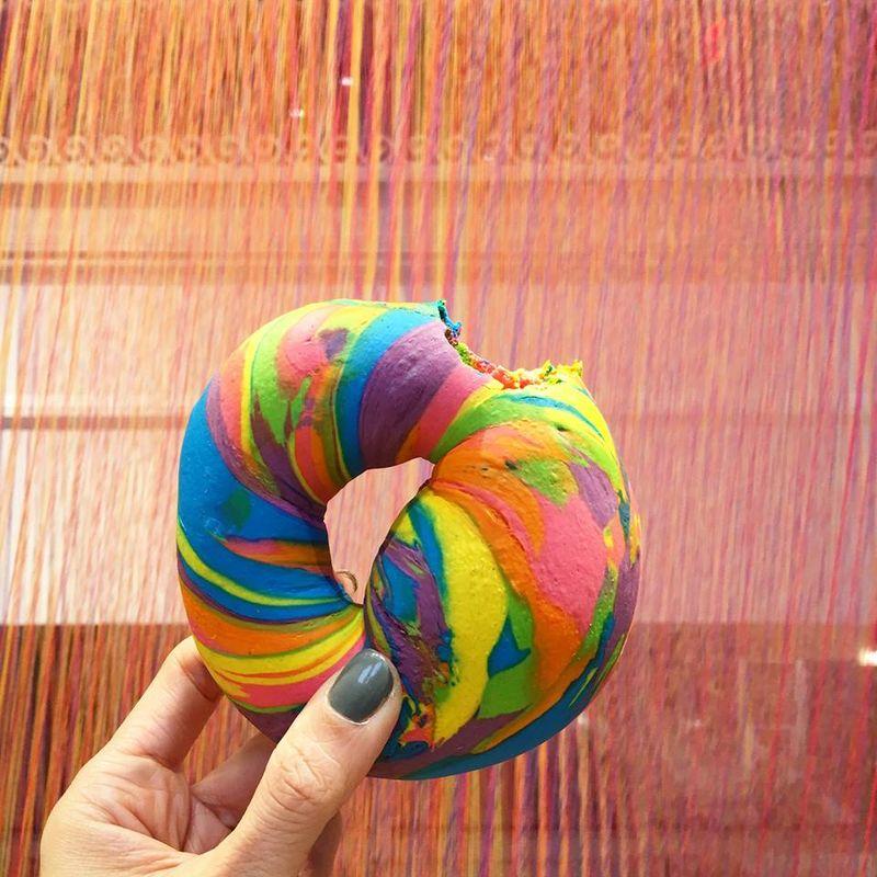 Rainbow Bagel