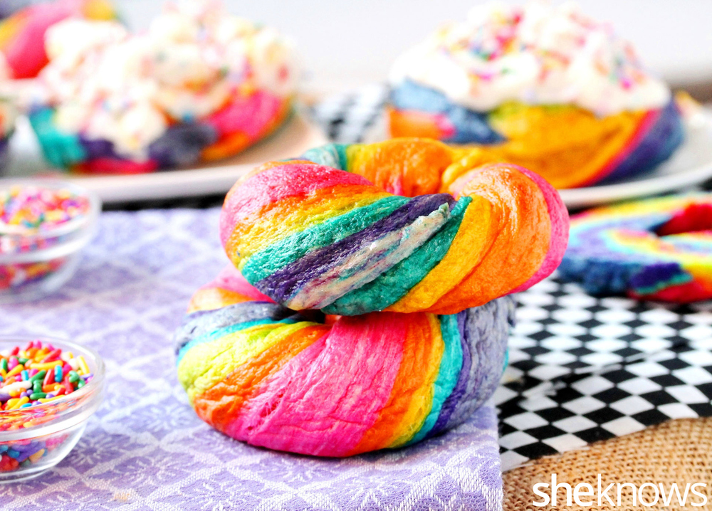 Rainbow Bagel Recipe