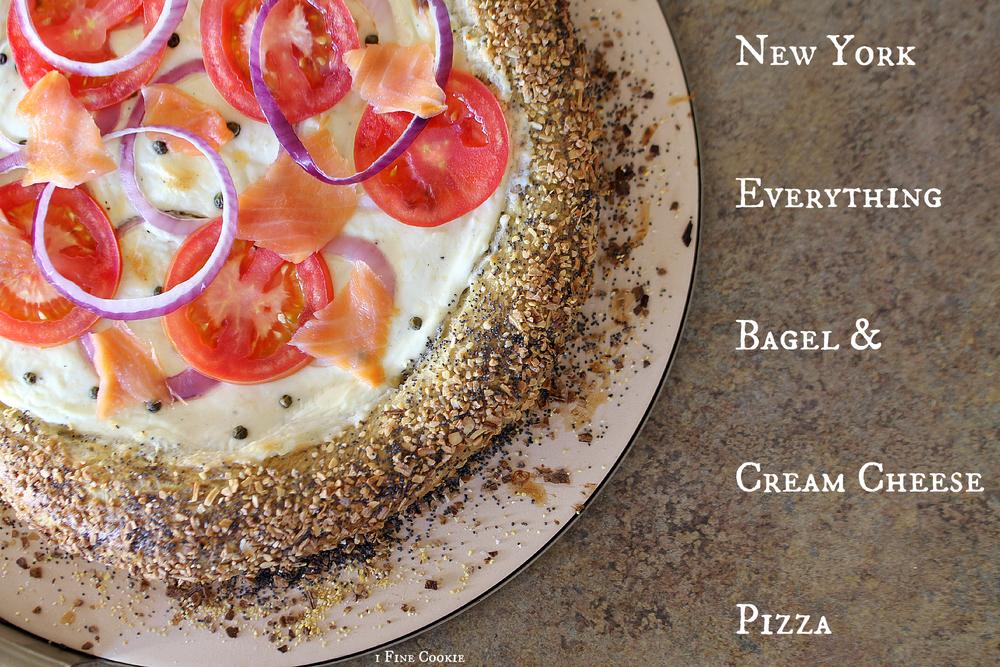 New York Everything Bagel Pizza w/ Cream Cheese Sauce