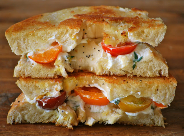 Grilled Cheese Bagel